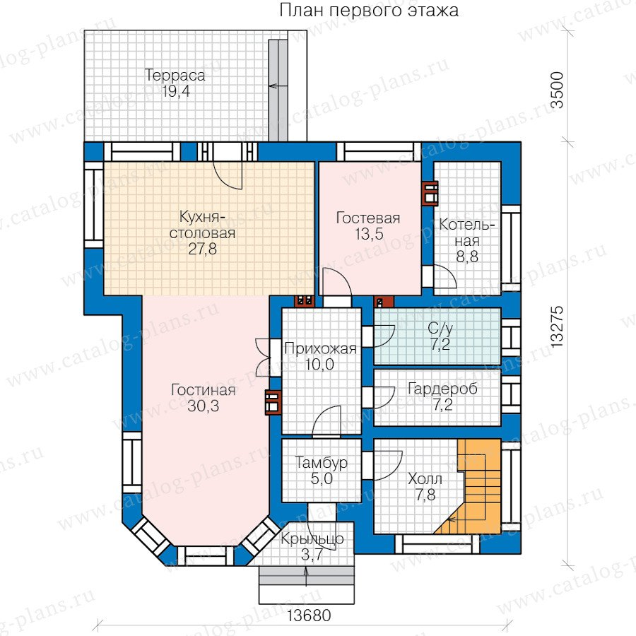 План 1-этажа проекта 48-21C