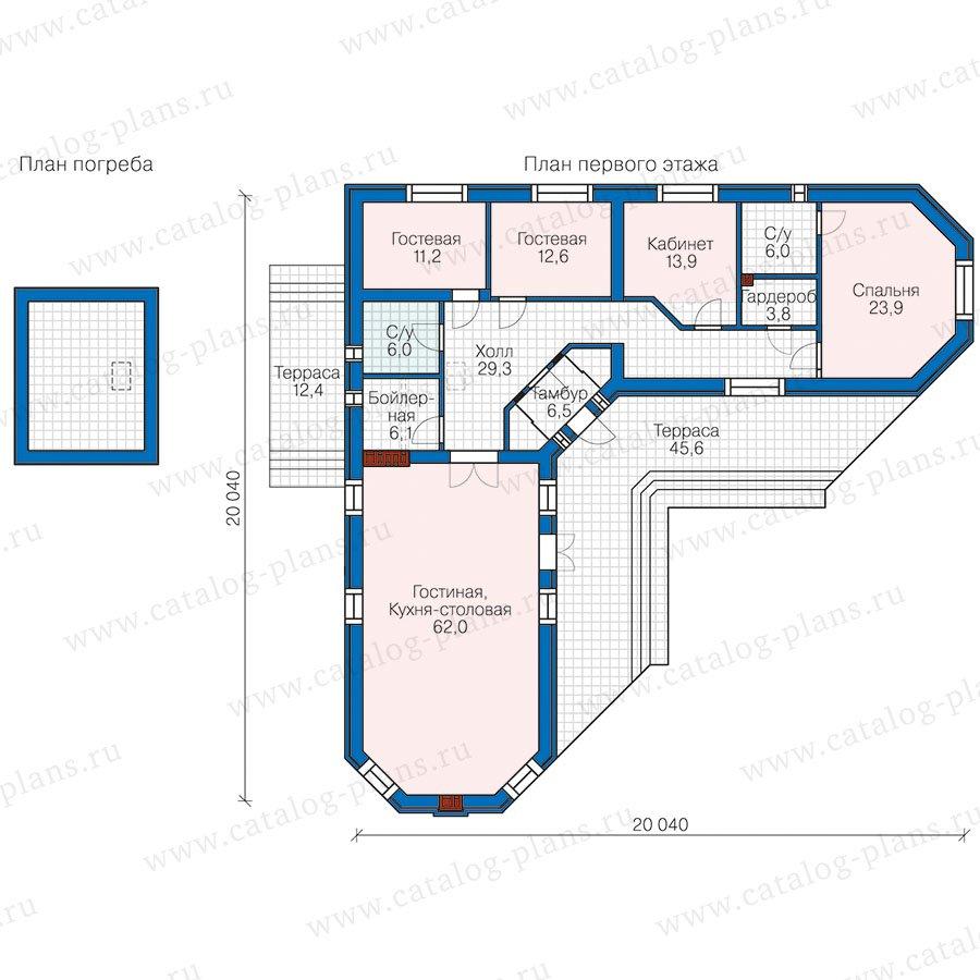 План 1-этажа проекта 58-50L
