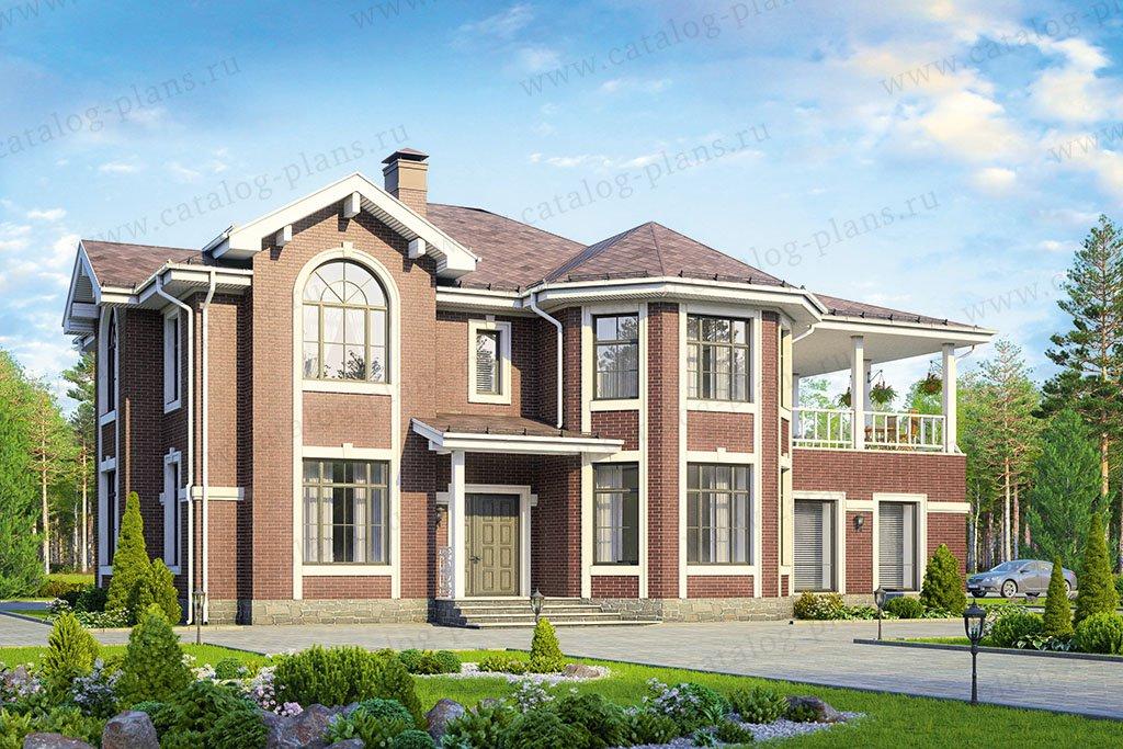 Проект жилой дом #57-92A материал - газобетон, стиль европейский