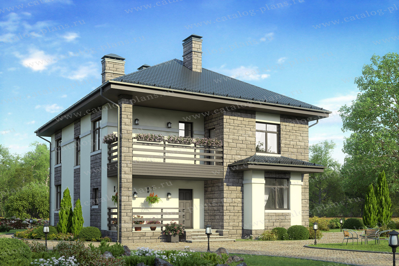 Проект жилой дом #57-39B материал - газобетон, стиль современный