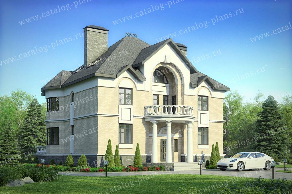 Проект жилой дом #40-52L материал - кирпич, стиль классический
