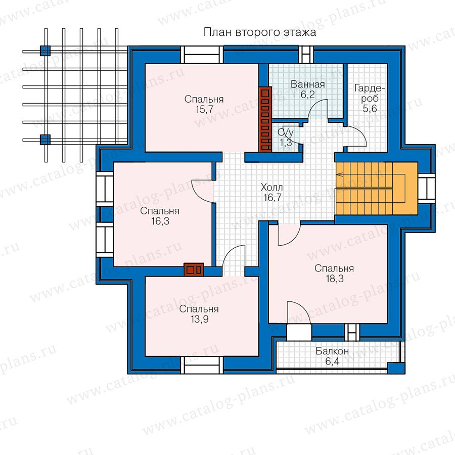 План 2-этажа проекта 57-00D