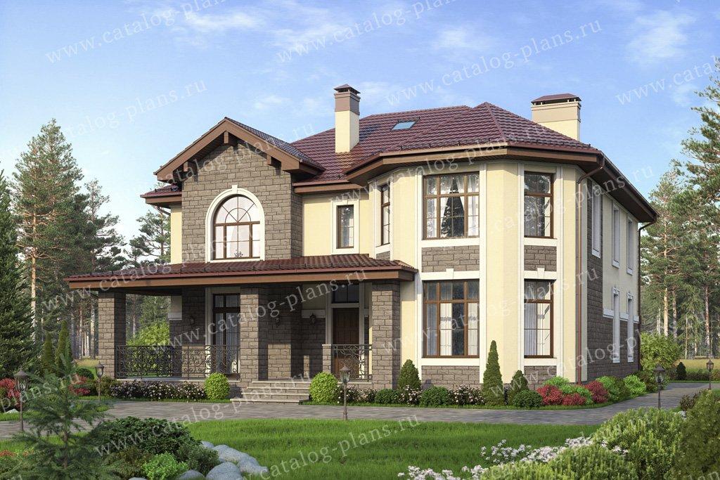 Проект жилой дом #40-11DL материал - кирпич, стиль европейский