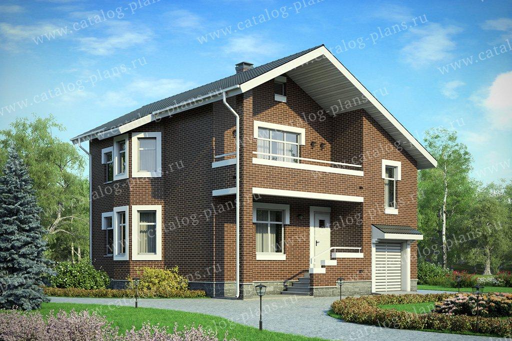 Проект жилой дом #40-51L материал - кирпич, стиль классический