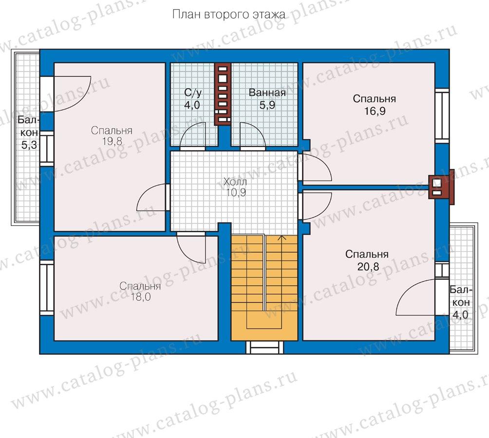 План 2-этажа проекта 57-10L