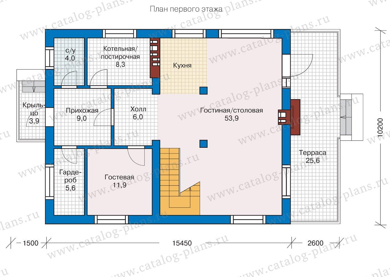 План 1-этажа проекта 57-10L