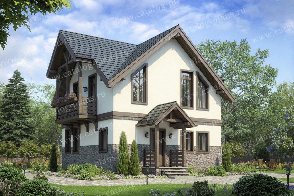 Проект жилой дом #58-59 материал - газобетон, стиль классический