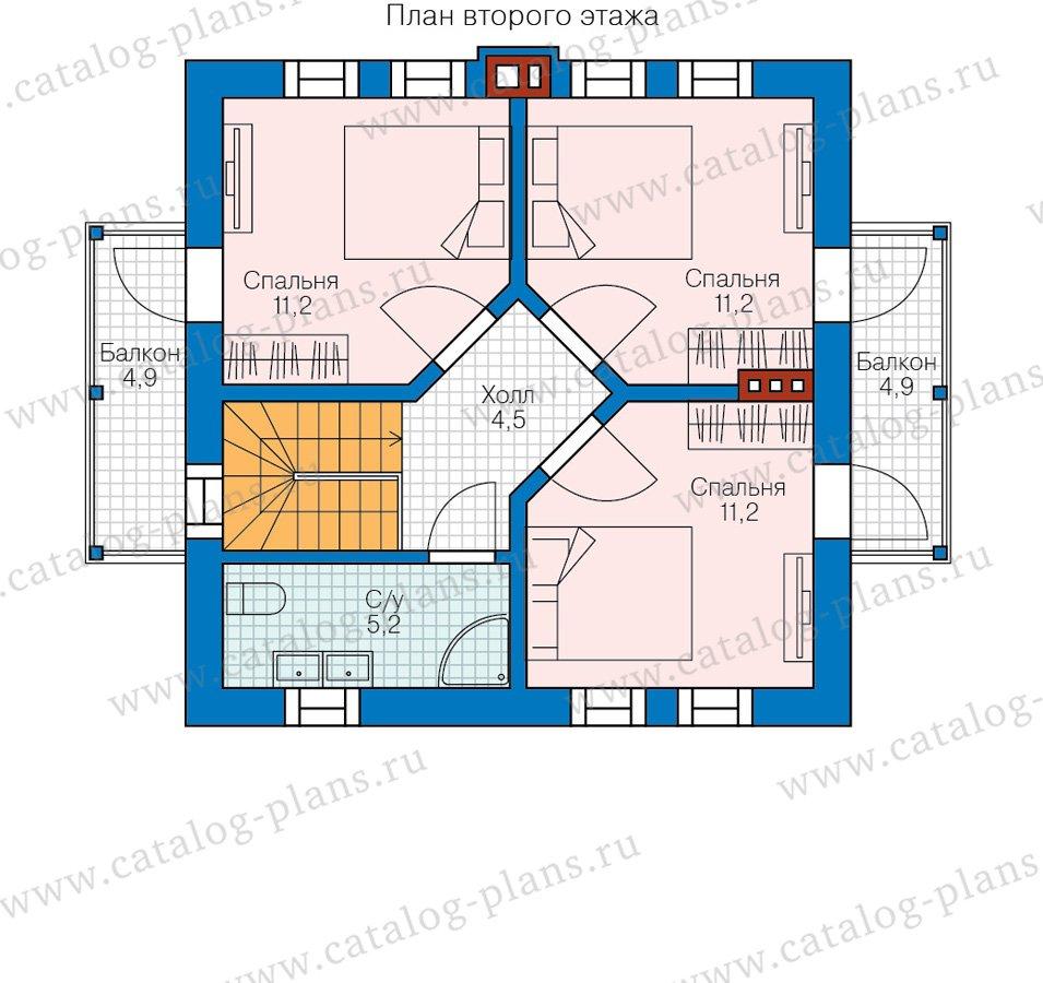 План 2-этажа проекта 58-59