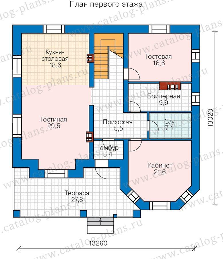 План 1-этажа проекта 40-11DL