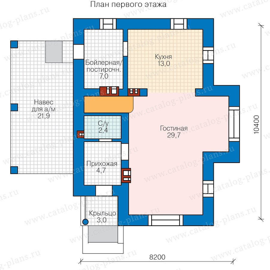 План 1-этажа проекта 58-61