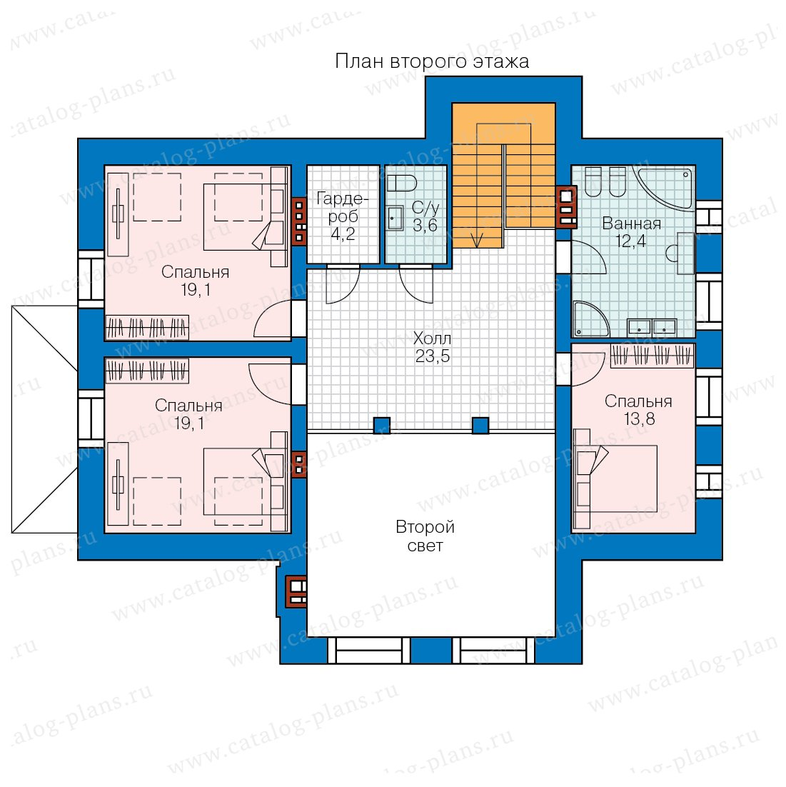 План 2-этажа проекта 40-44L