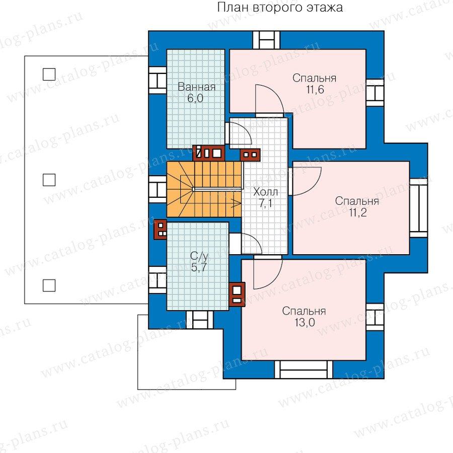 План 2-этажа проекта 58-61