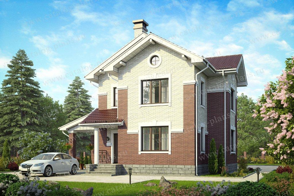 Проект жилой дом #58-61 материал - газобетон, стиль европейский