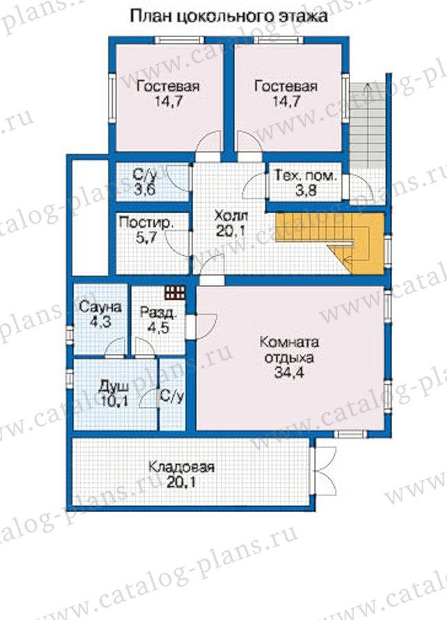 План 1-этажа проекта 12-59