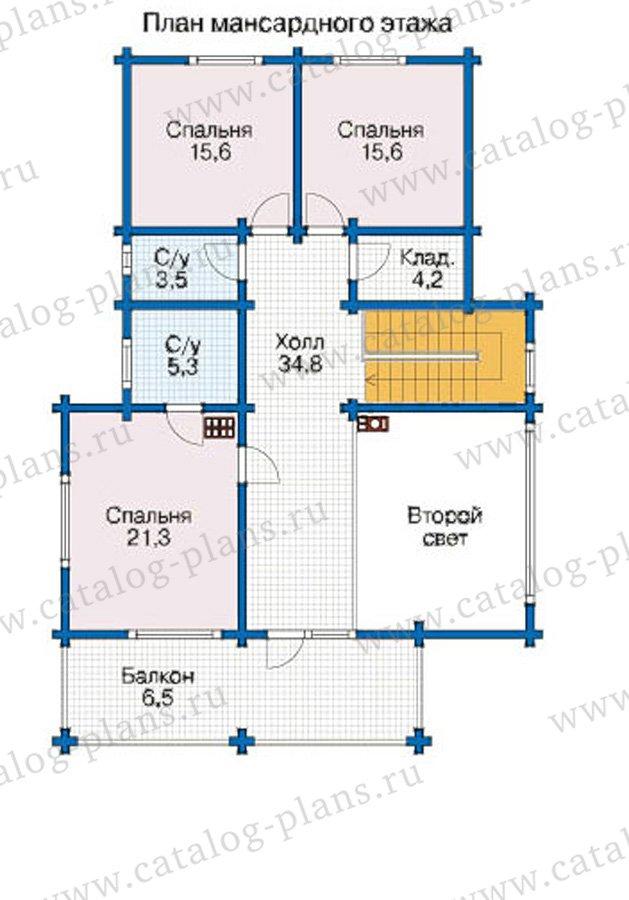 План 3-этажа проекта 12-59