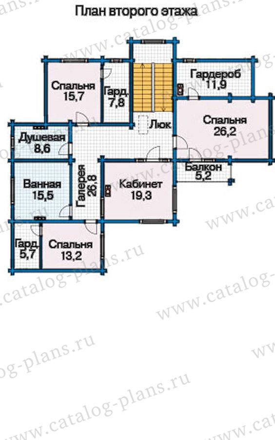 План 3-этажа проекта 12-57