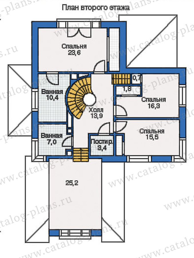 План 2-этажа проекта 35-13