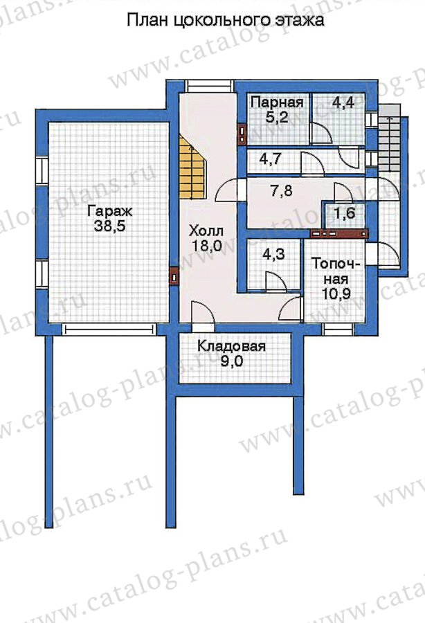 План 1-этажа проекта 32-48