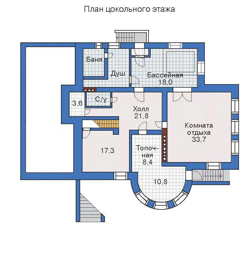 План 1-этажа проекта 32-27