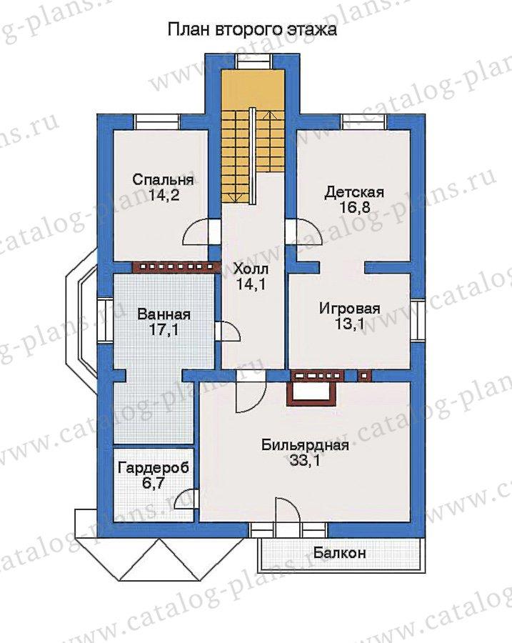 План 3-этажа проекта 32-73