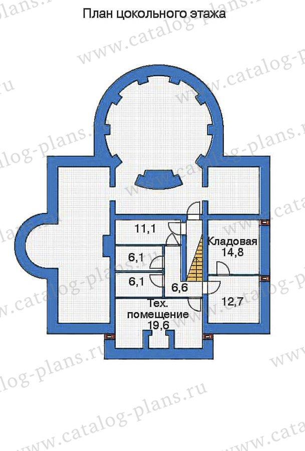 План 1-этажа проекта 32-76