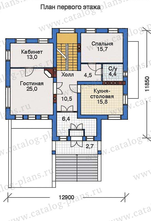 План 2-этажа проекта 32-48