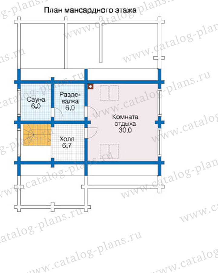 План 3-этажа проекта 12-61