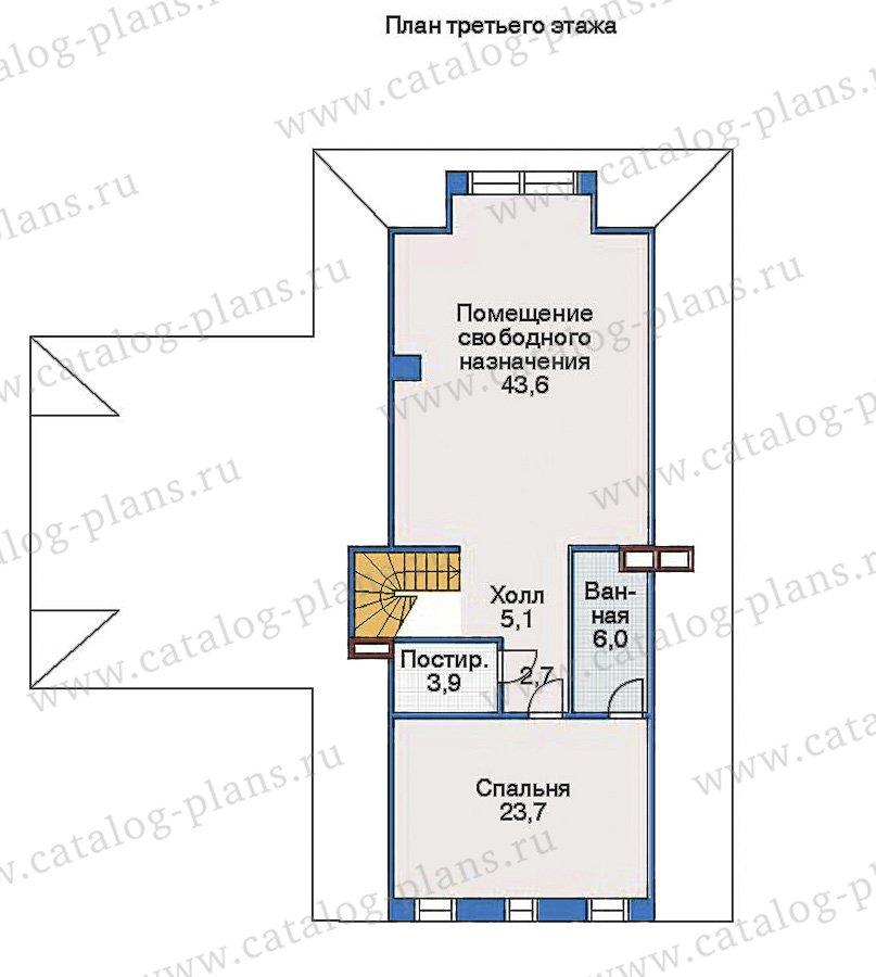 План 3-этажа проекта 35-15