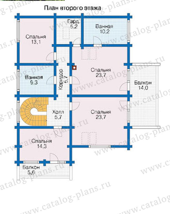 План 2-этажа проекта 12-61