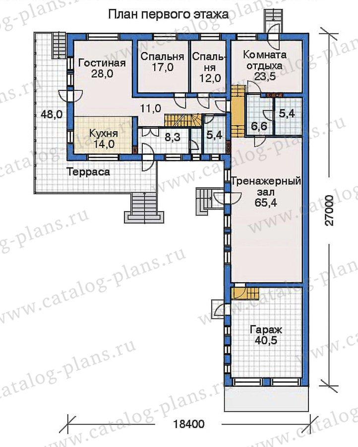План 2-этажа проекта 32-47