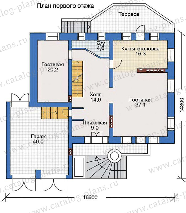 План 2-этажа проекта 34-88