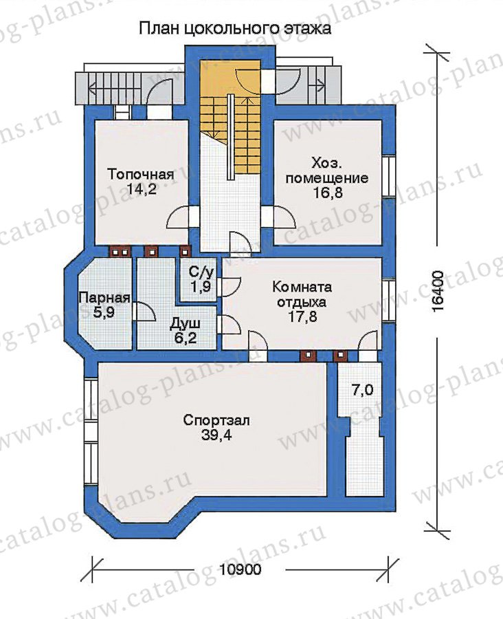 План 1-этажа проекта 32-73