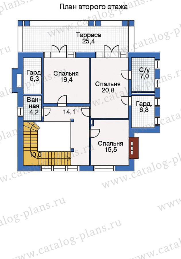 План 2-этажа проекта 35-04