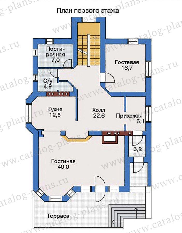 План 2-этажа проекта 32-73
