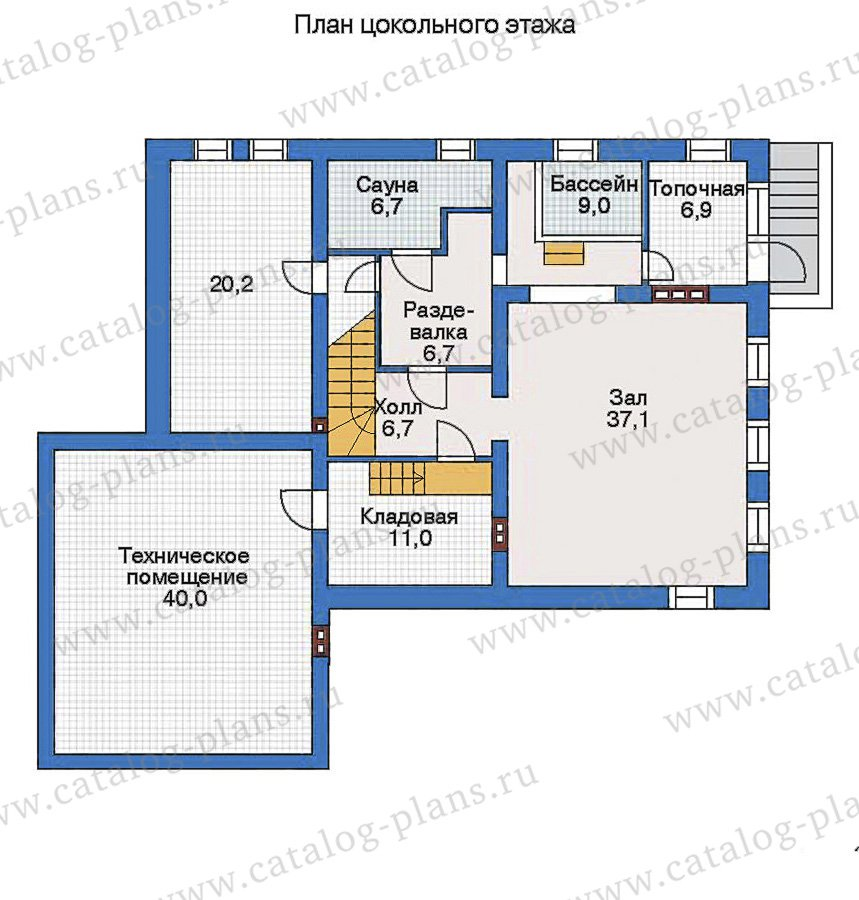 План 1-этажа проекта 34-88