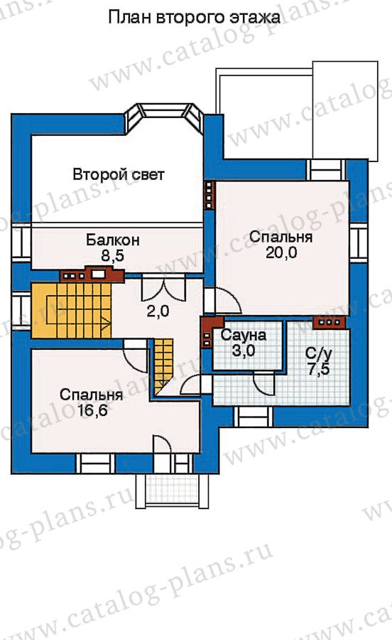 План 3-этажа проекта 30-45