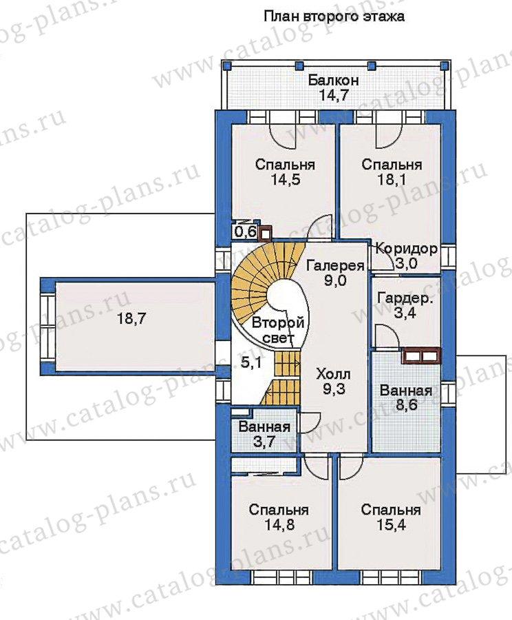 План 2-этажа проекта 35-15