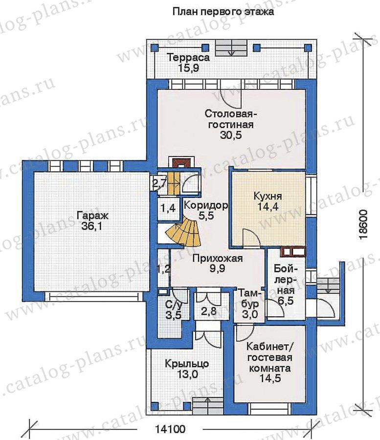 План 1-этажа проекта 35-15