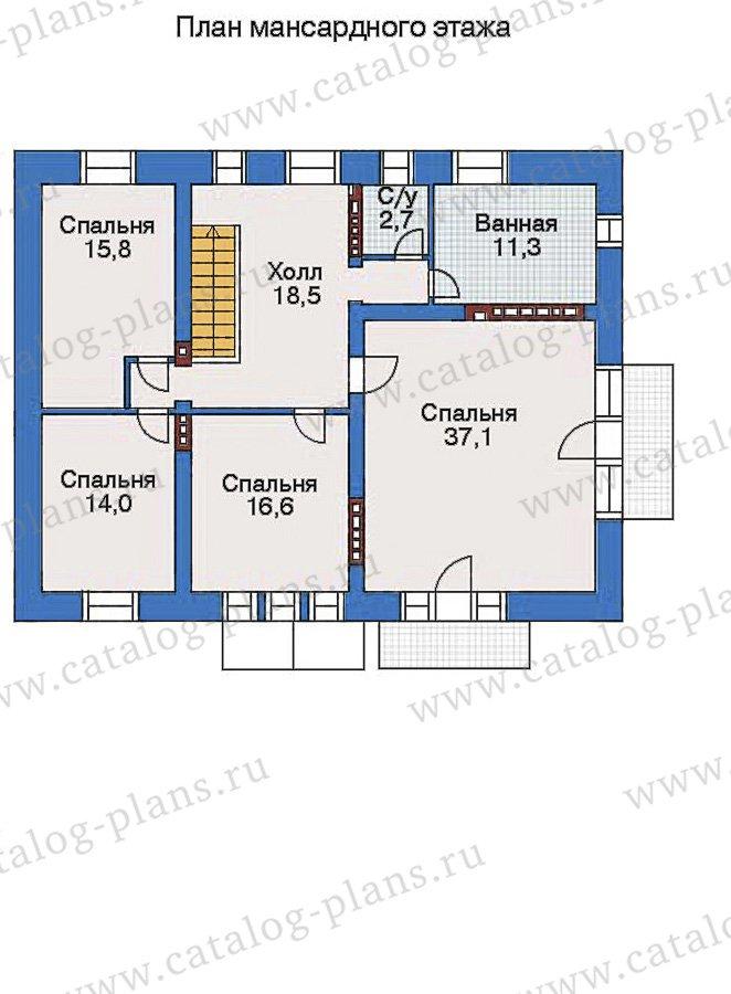План 3-этажа проекта 34-88