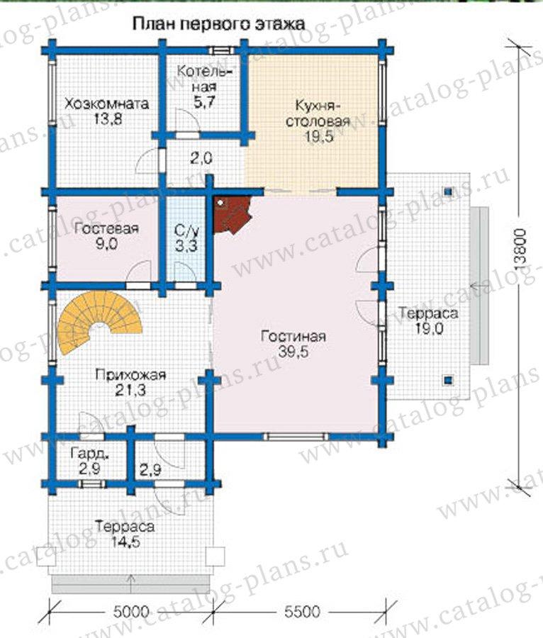 План 1-этажа проекта 12-61