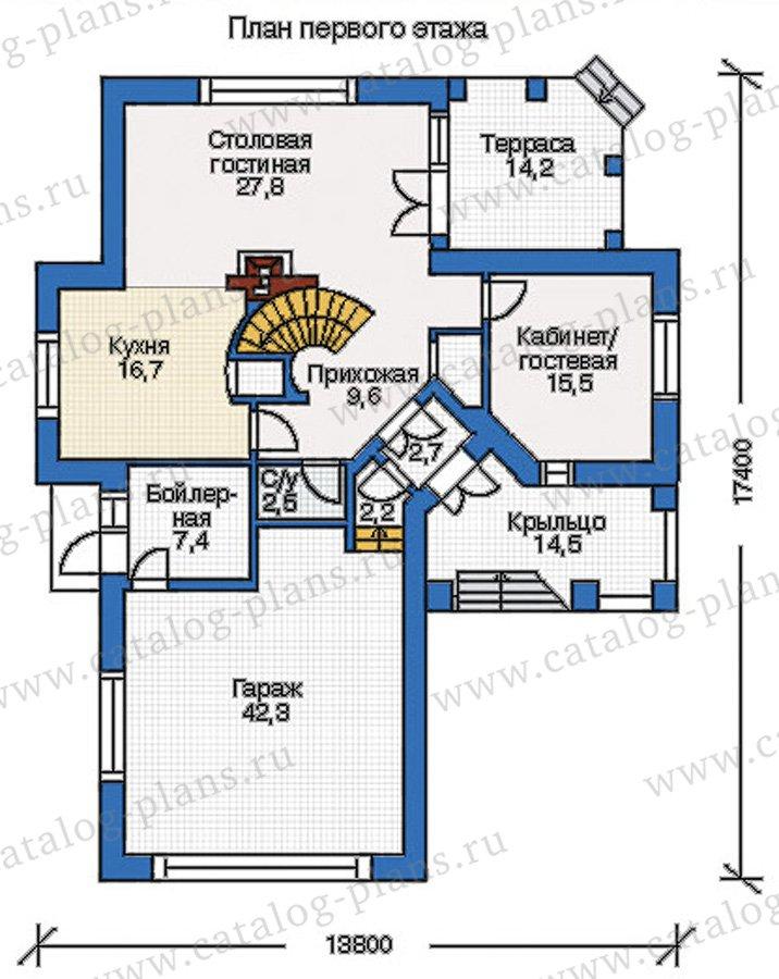 План 1-этажа проекта 35-13