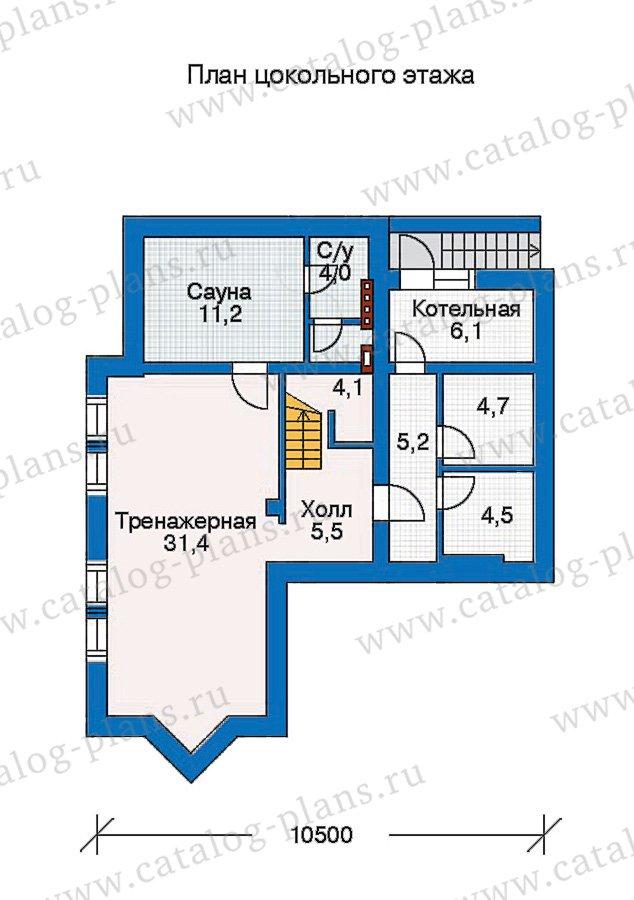 План 1-этажа проекта 30-65