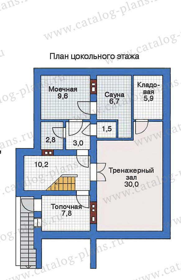 План 1-этажа проекта 32-41