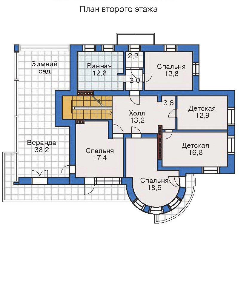 План 3-этажа проекта 32-27