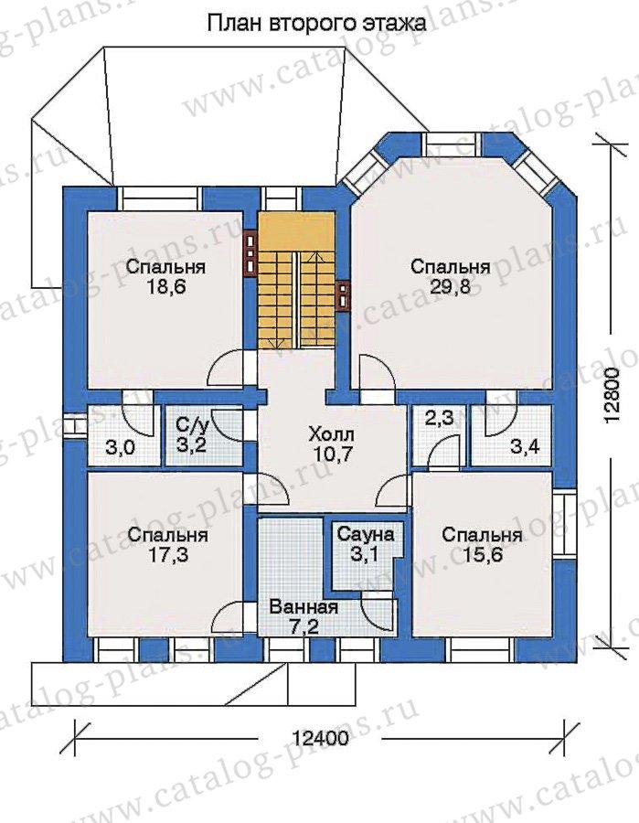 План 2-этажа проекта 32-86