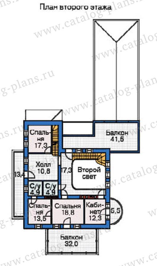 План 3-этажа проекта 37-62