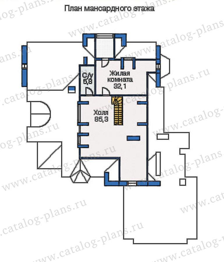 План 3-этажа проекта 35-17