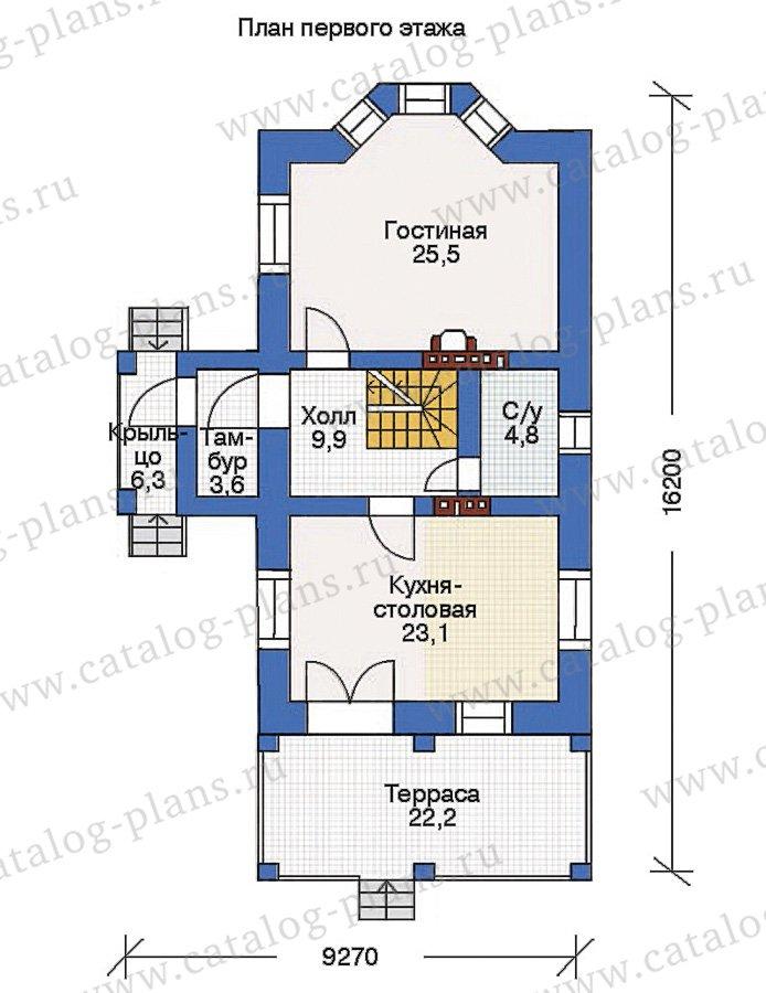 План 2-этажа проекта 36-77