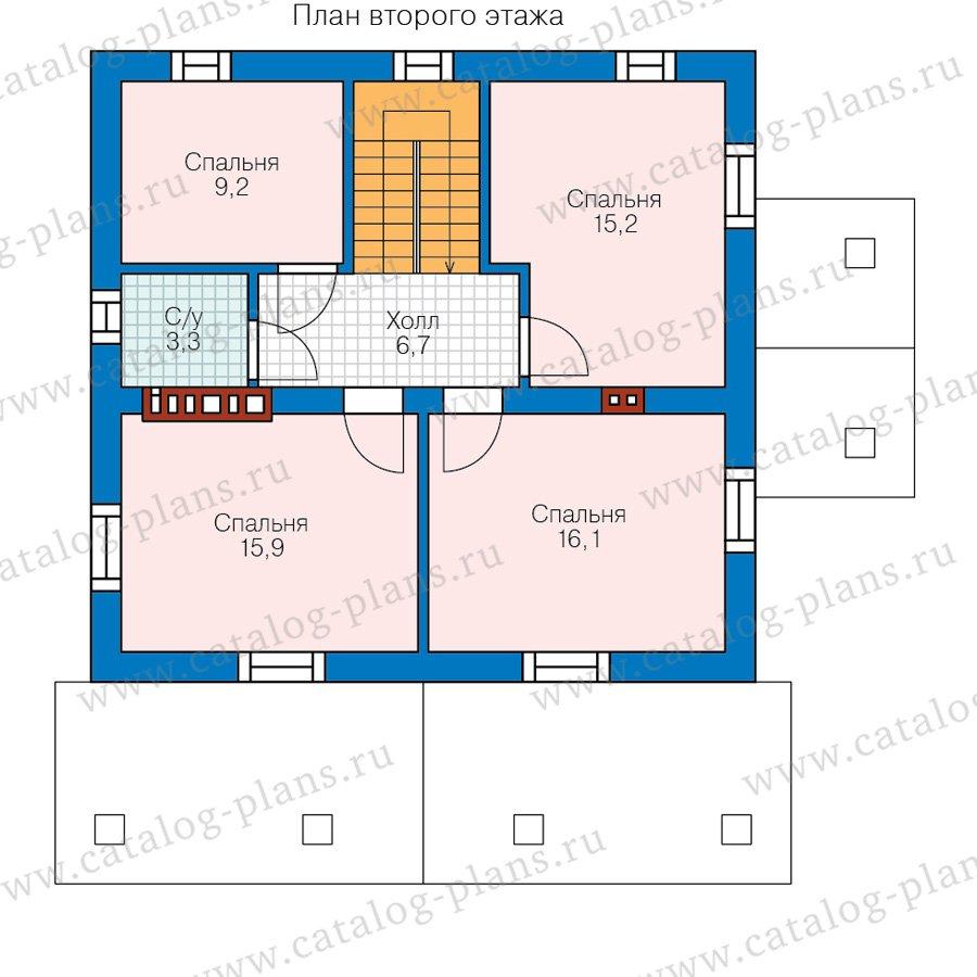 План 2-этажа проекта 40-04B