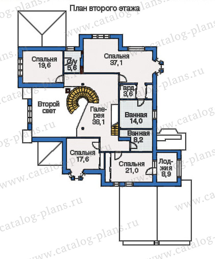 План 2-этажа проекта 35-17